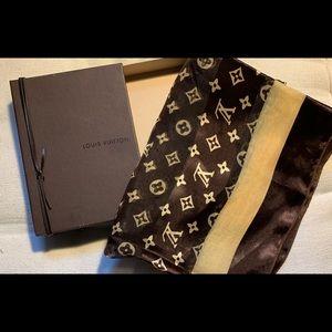Louis Vuitton Scarf w/ Bag & Box